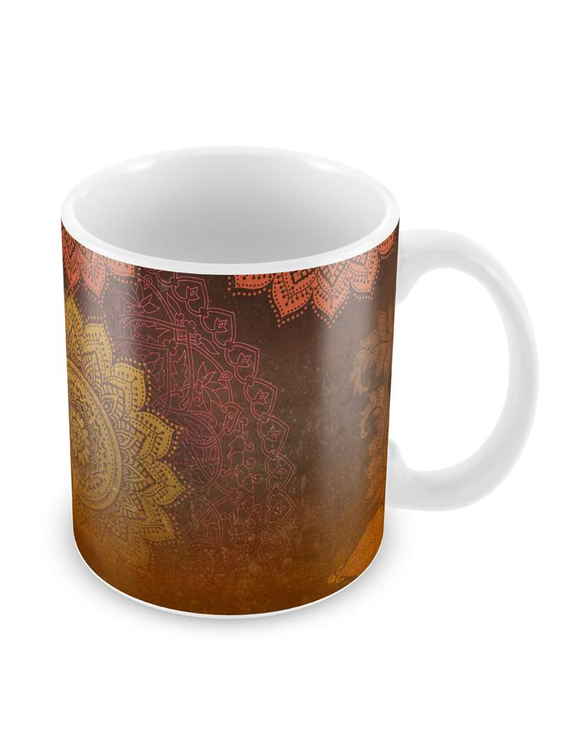 Ethnic Mandala Ceramic Coffee Mug