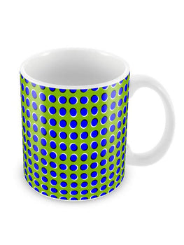 Optical Illusion Dots Ceramic Coffee Mug