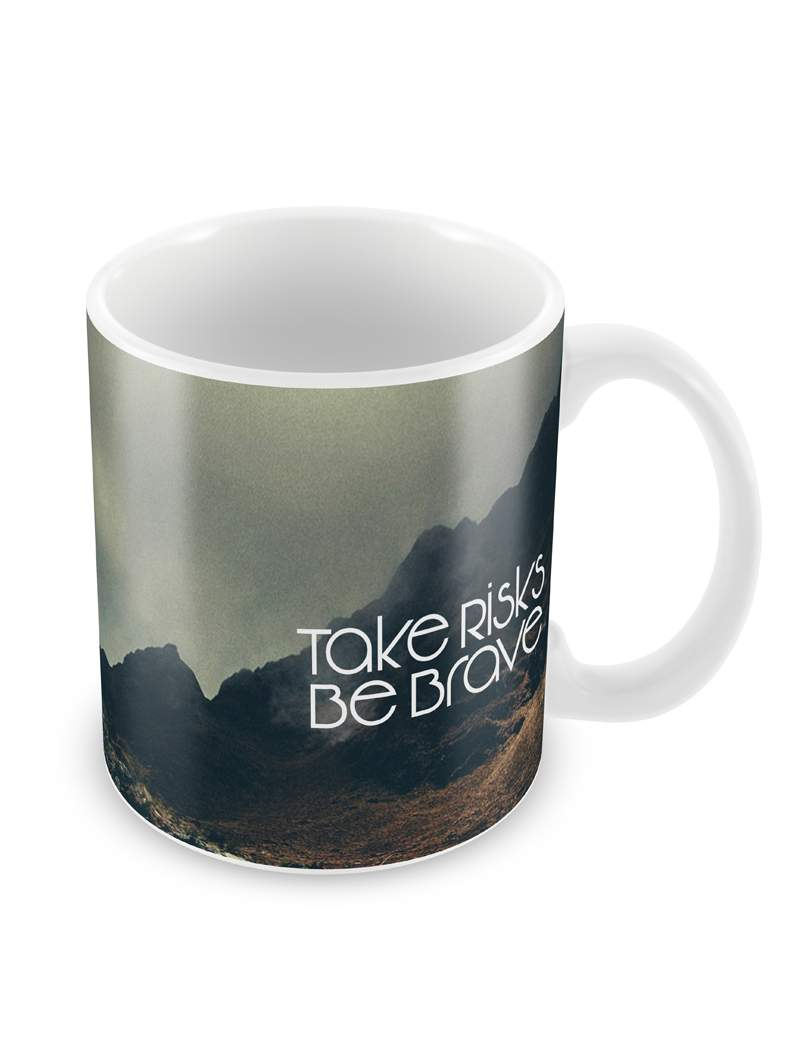 Take Risks Ceramic Coffee Mug