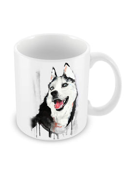 Cute Huskie Ceramic Coffee Mug