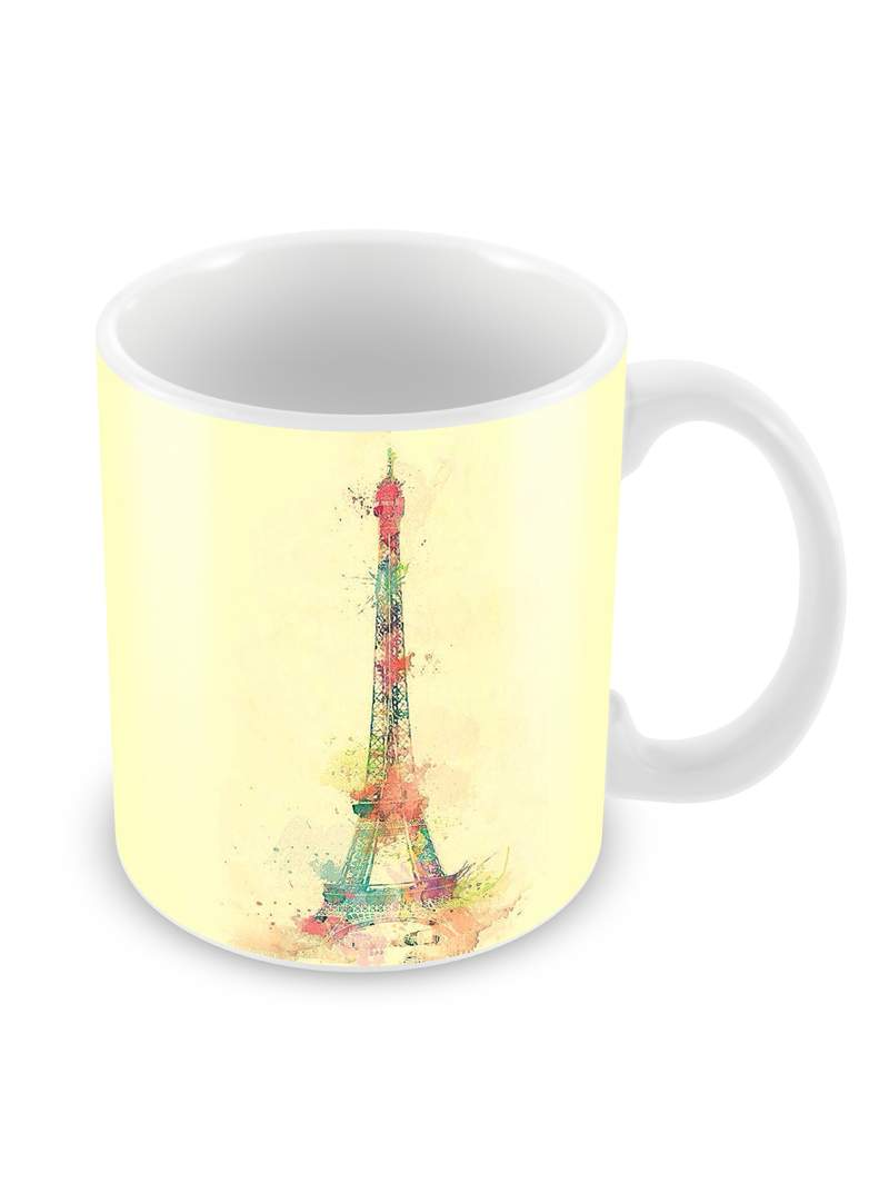 Eiffel Art Ceramic Coffee Mug