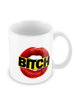 Bitch Lips Ceramic Coffee Mug