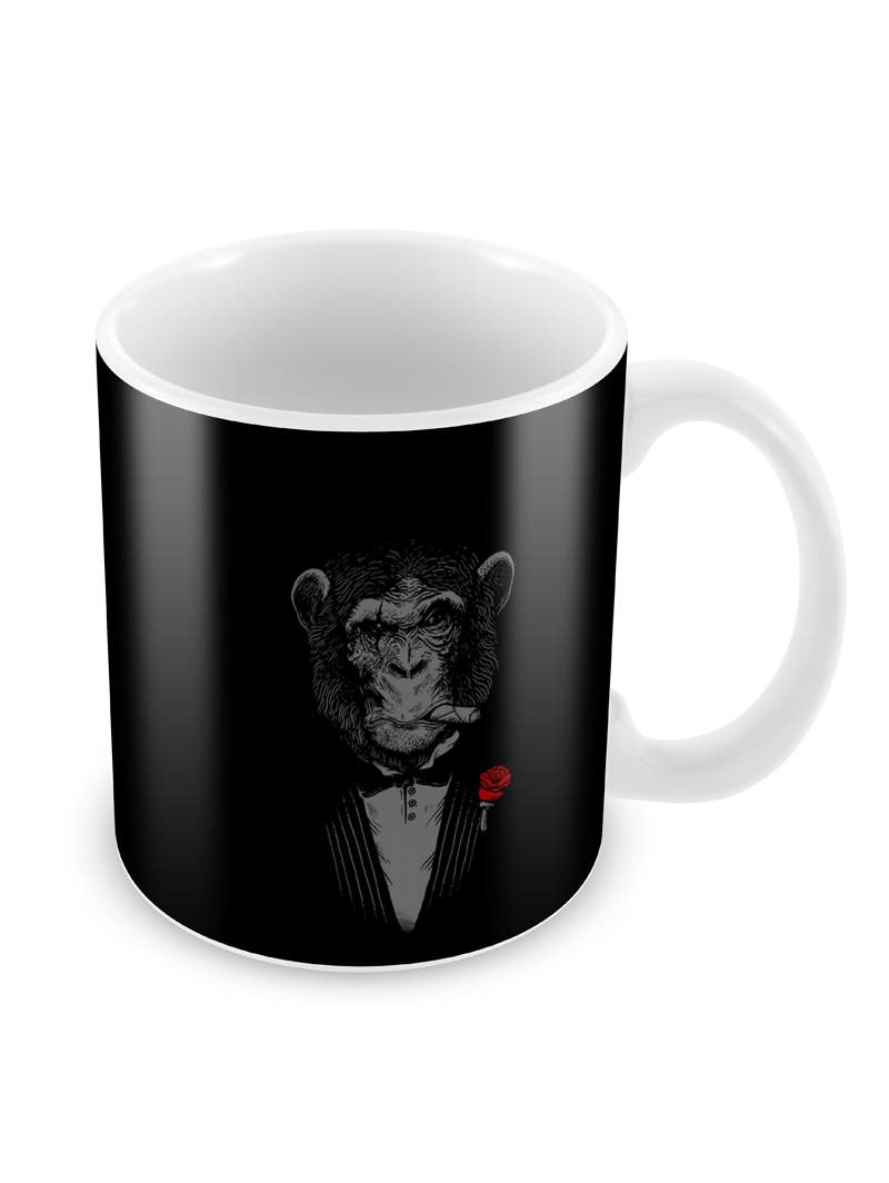 Chimp in Suit Ceramic Coffee Mug