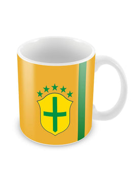 Brazil Football Ceramic Coffee Mug
