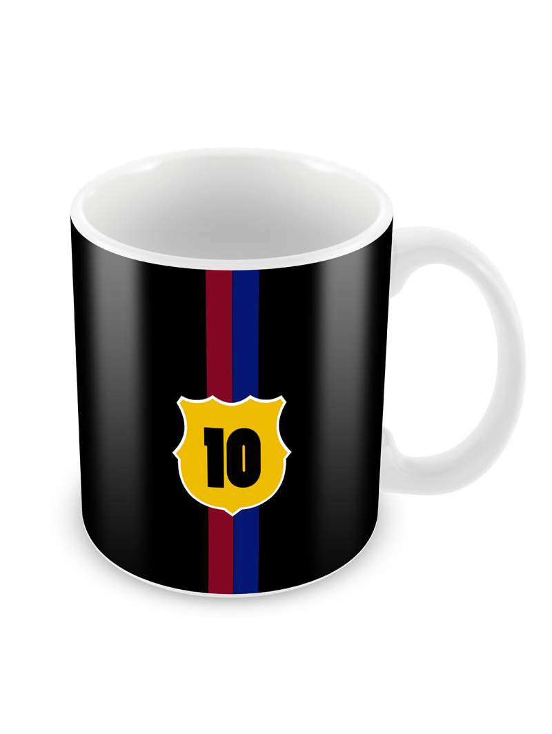 Jersey No. 10 Ceramic Coffee Mug