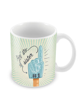 No 1 Sister Ceramic Coffee Mug