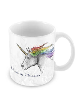Believe In Miracles Ceramic Coffee Mug