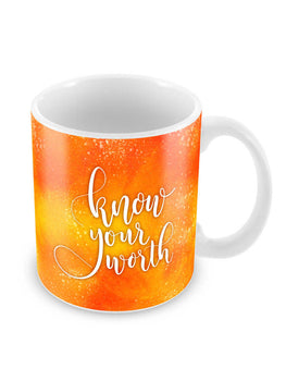 Know Your Worth Ceramic Coffee Mug