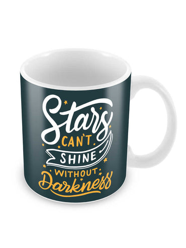 Stars Shines In Darkness Ceramic Coffee Mug