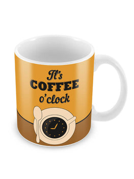 Coffee O'Clock Ceramic Coffee Mug