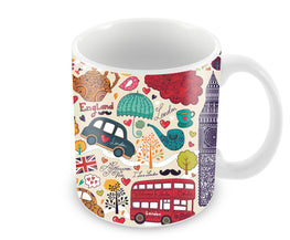 London Travel Art Ceramic Coffee Mug