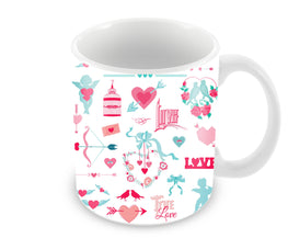 Love Elements Valentines Day Gift Ceramic Coffee Mug