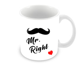 Mr Right Mustache Style For Boys Ceramic Coffee Mug