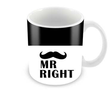 Mrs Right Black And White Ceramic Coffee Mug