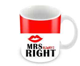 Mrs Always Right Black And Red Ceramic Coffee Mug