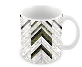 Marble Strips Line Pattern Geometric Art Ceramic Coffee Mug
