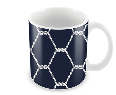 Seamless Nautical Rope Pattern  Ceramic Coffee Mug