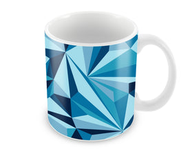 Crystal Geometric Pattern Ceramic Coffee Mug
