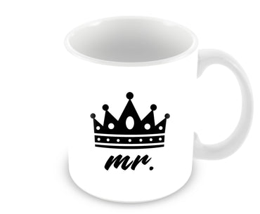 Mr King Typography For Boys Ceramic Coffee Mug