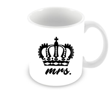 Mrs Queen Typography For Girls Ceramic Coffee Mug