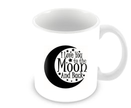 Love You Moon Quote For Valentine Day Ceramic Coffee Mug