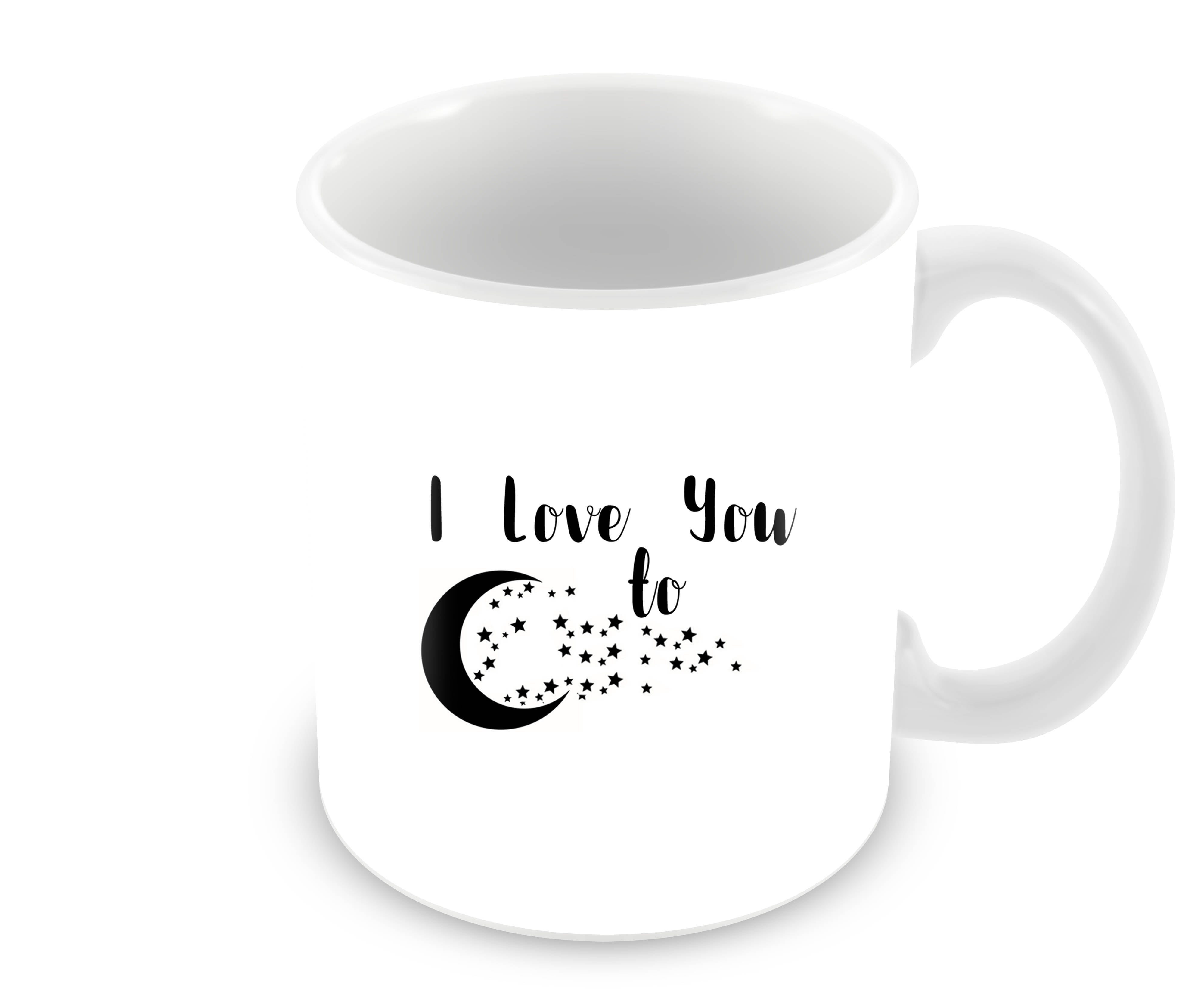 Love You To Star Typography Ceramic Coffee Mug