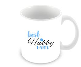 Best Hubby Ever Typography Valentine Gift Ceramic Coffee Mug