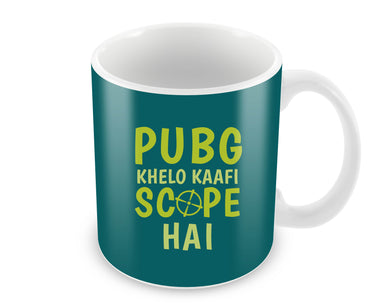 Pubg Khelo Kaafi Scope Hai Game Lovers Ceramic Coffee Mug