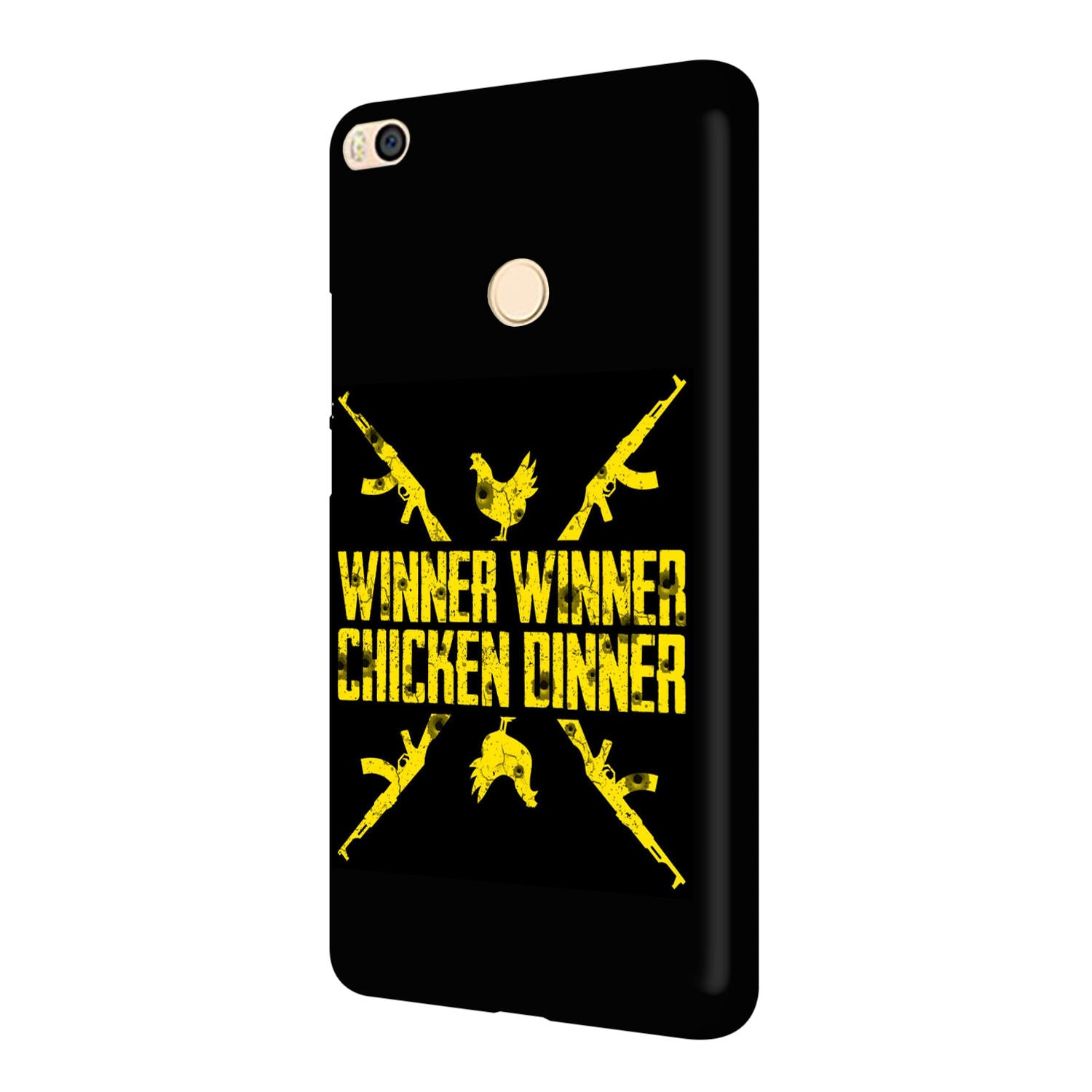 Gun And Chicken For Winner Typography Art Mi Max 2 Mobile Cover Case - MADANYU
