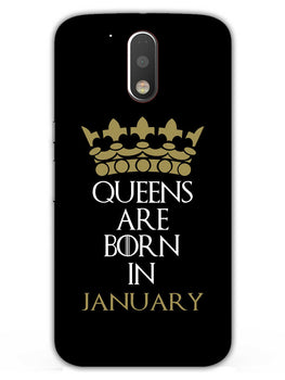 Queens January Moto G4 Plus Mobile Cover Case