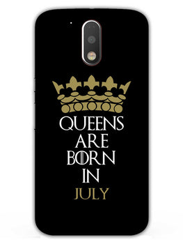 Queens July Moto G4 Plus Mobile Cover Case