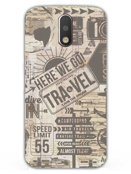 Wanderlust Graffiti Moto G4 Plus Mobile Cover Case