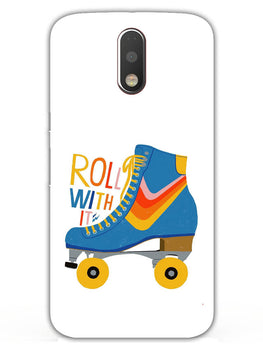 Roller Skate Play With Fun Moto G4 Plus Mobile Cover Case