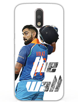 Kohli The Wall Cricket Lover Moto G4 Plus Mobile Cover Case