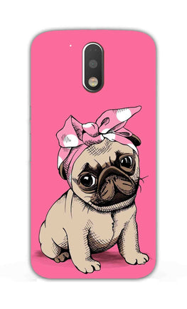 Princess Pug Dog Lovers So Girly Moto G4 Plus Mobile Cover Case