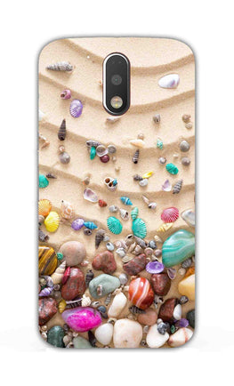 Sea Shell Collection Beach Lovers Moto G4 Plus Mobile Cover Case