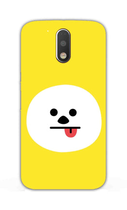 Tongue Out Smile Funny Face Moto G4 Plus Mobile Cover Case