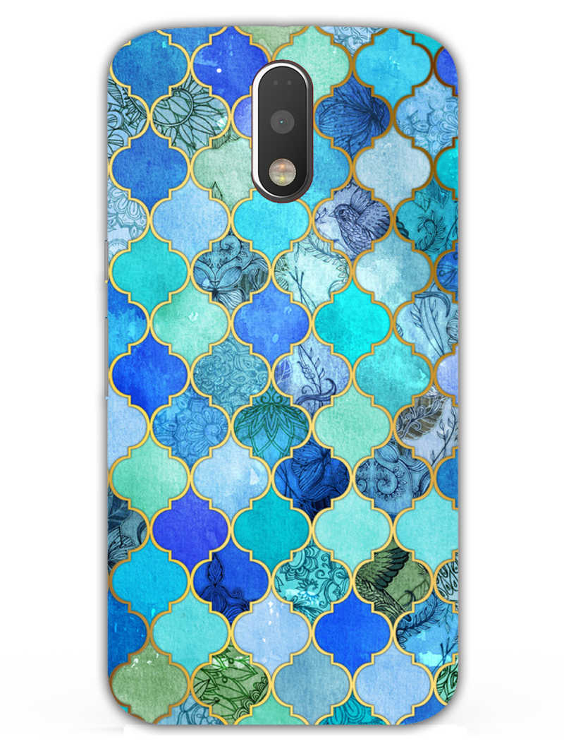 Morroccan Pattern Moto G4  Mobile Cover Case - MADANYU