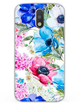 Hand Painted Floral Moto G4 Mobile Cover Case