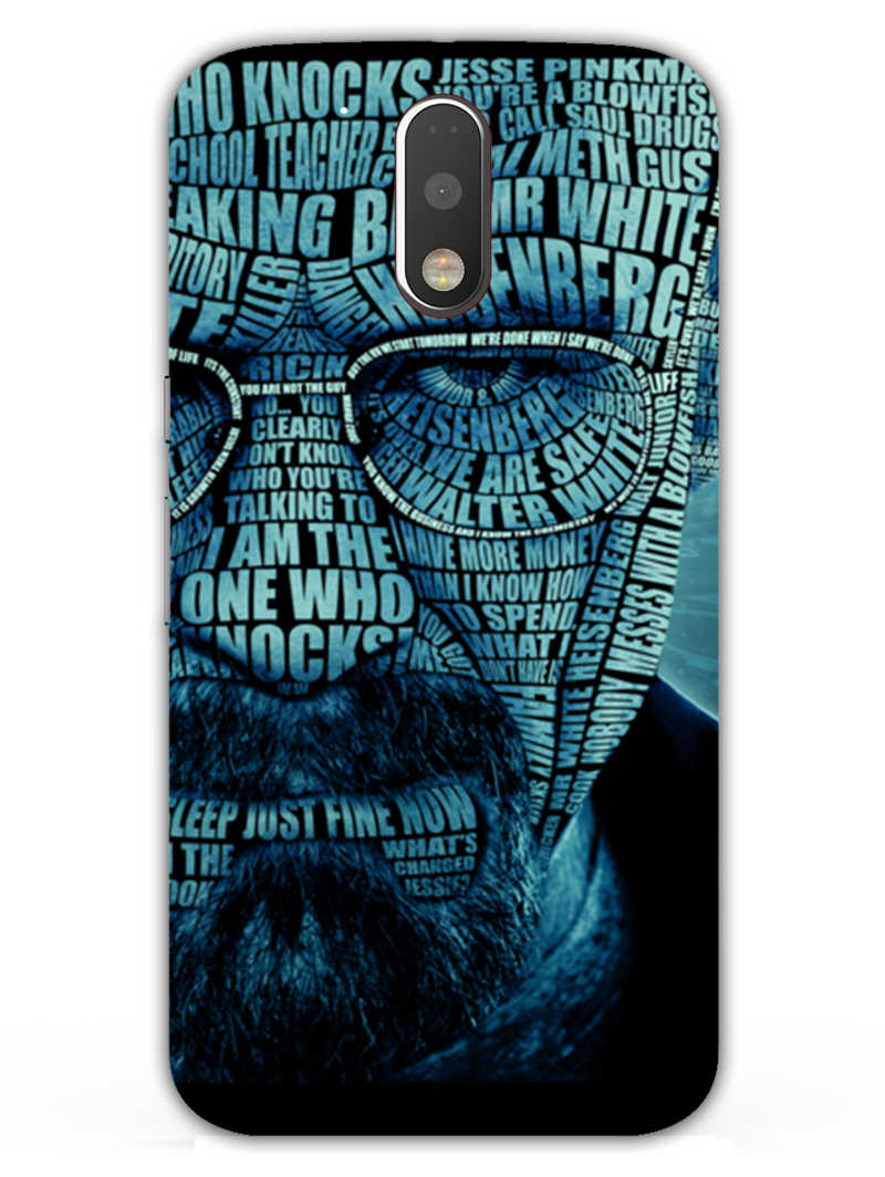 Heisenberg Typography Moto G4  Mobile Cover Case - MADANYU