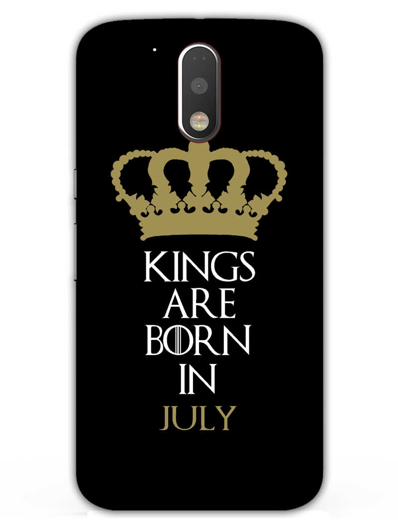 Kings July Moto G4  Mobile Cover Case - MADANYU