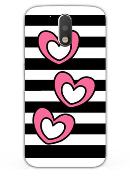 Three Hearts Moto G4  Mobile Cover Case