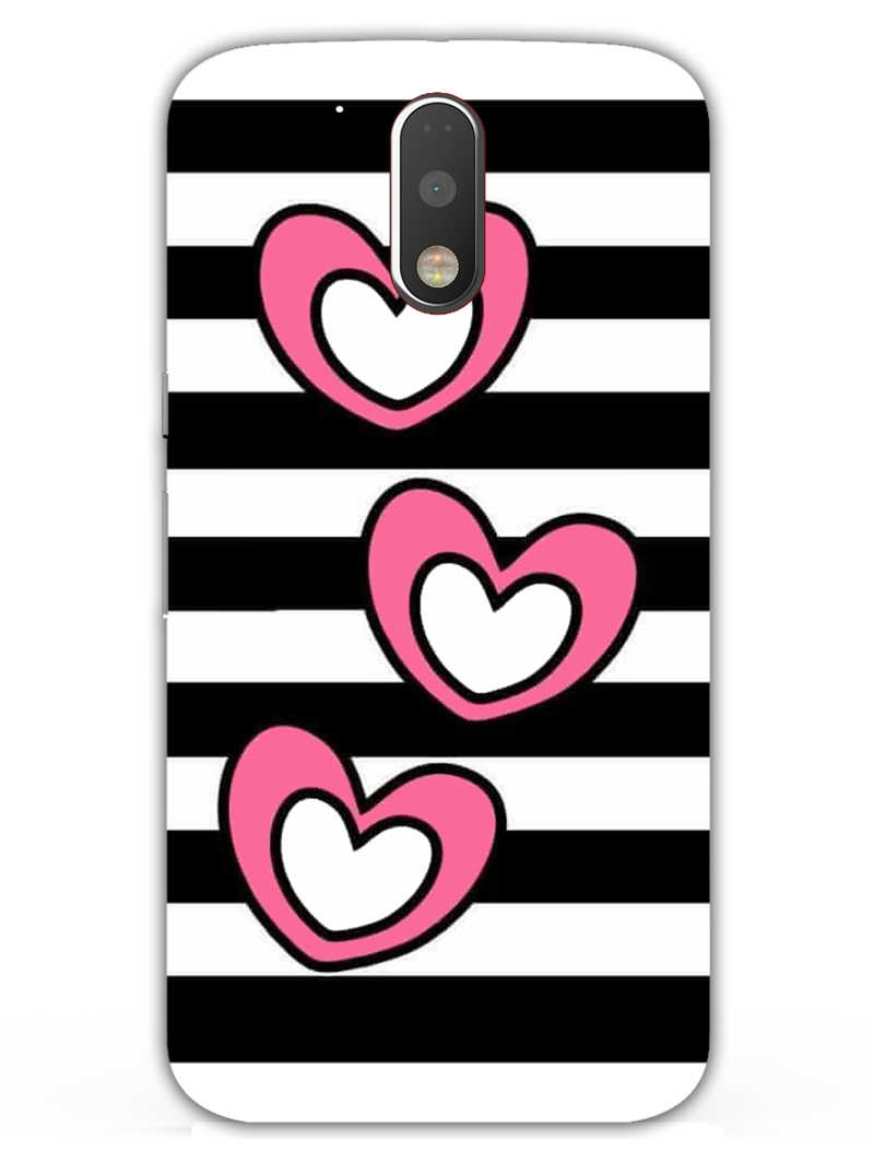 Three Hearts Moto G4  Mobile Cover Case - MADANYU