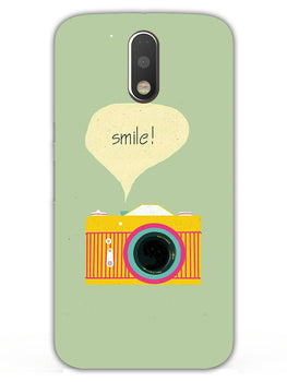 Smile Vintage Camera Moto G4  Mobile Cover Case