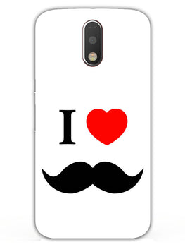 I Love Mustache Style Moto G4 Mobile Cover Case