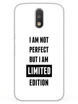 I Am Limited Edition Moto G4 Mobile Cover Case