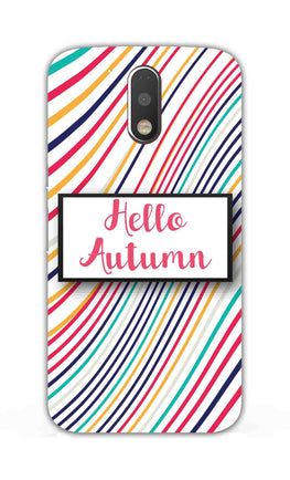 Lines Autumn For Artist Moto G4  Mobile Cover Case