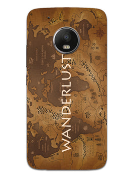 Wanderlust Traveller Globe Trotter Moto G5 Plus Mobile Cover Case