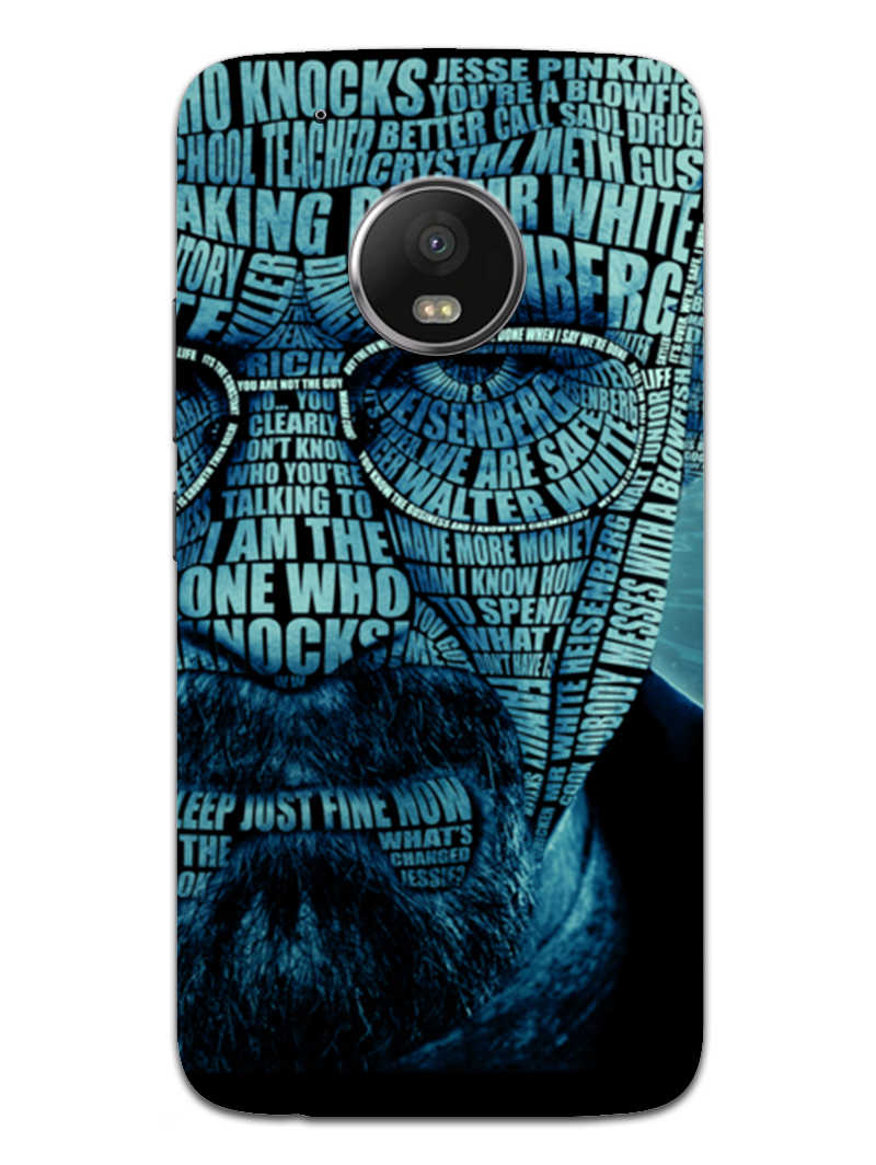 Heisenberg Typography Moto G5 Plus Mobile Cover Case