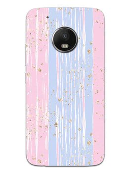 Pink And Blue Shade Lines Moto G5 Plus Mobile Cover Case
